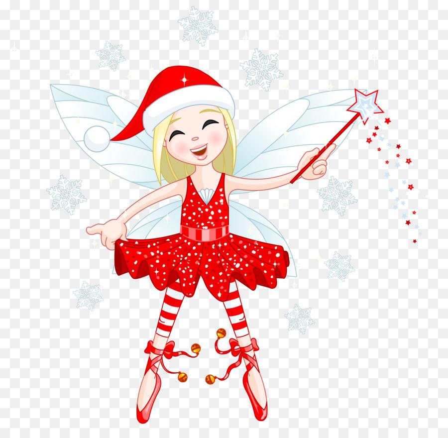 Fairies clipart elf. Christmas tree red fairy