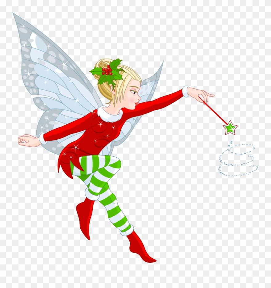 Cartoon cliparts christmas fairy. Fairies clipart elf