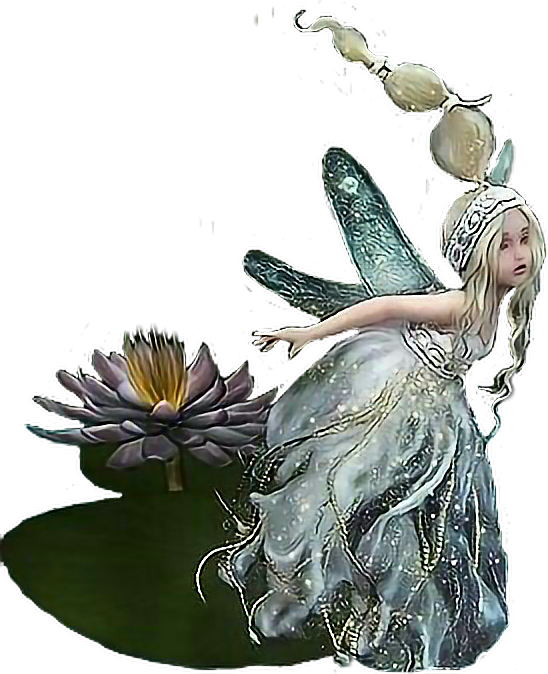 Sprite fairytale pond fairies. Water clipart fairy
