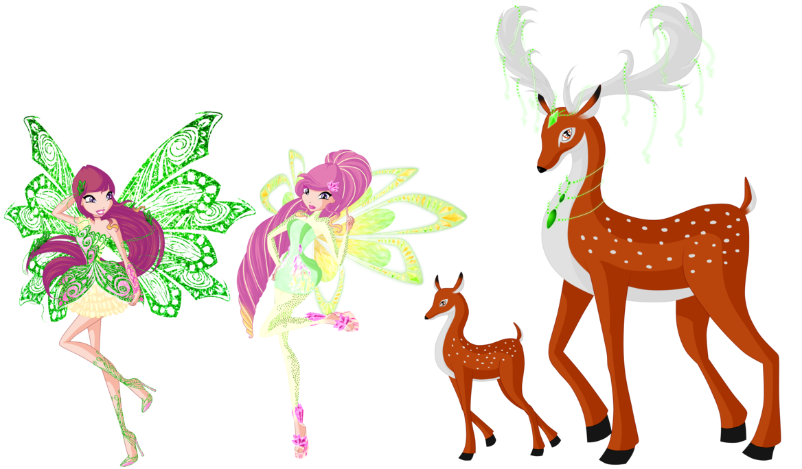 Winx roxy fairy of. Fairies clipart fawn