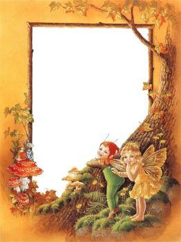 Fairies clipart frame. Borders frames