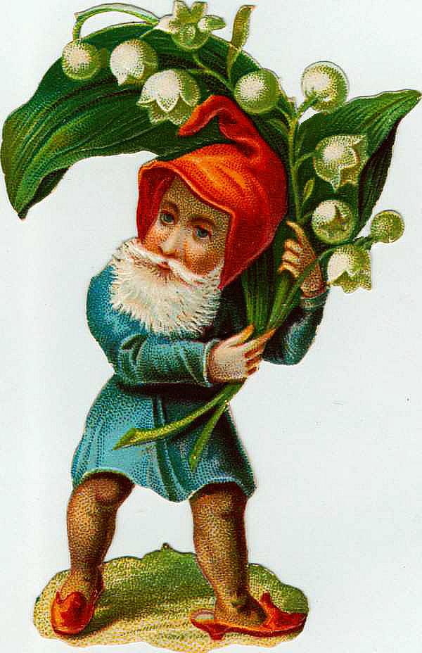 Gnome graphic . Garden clipart vintage