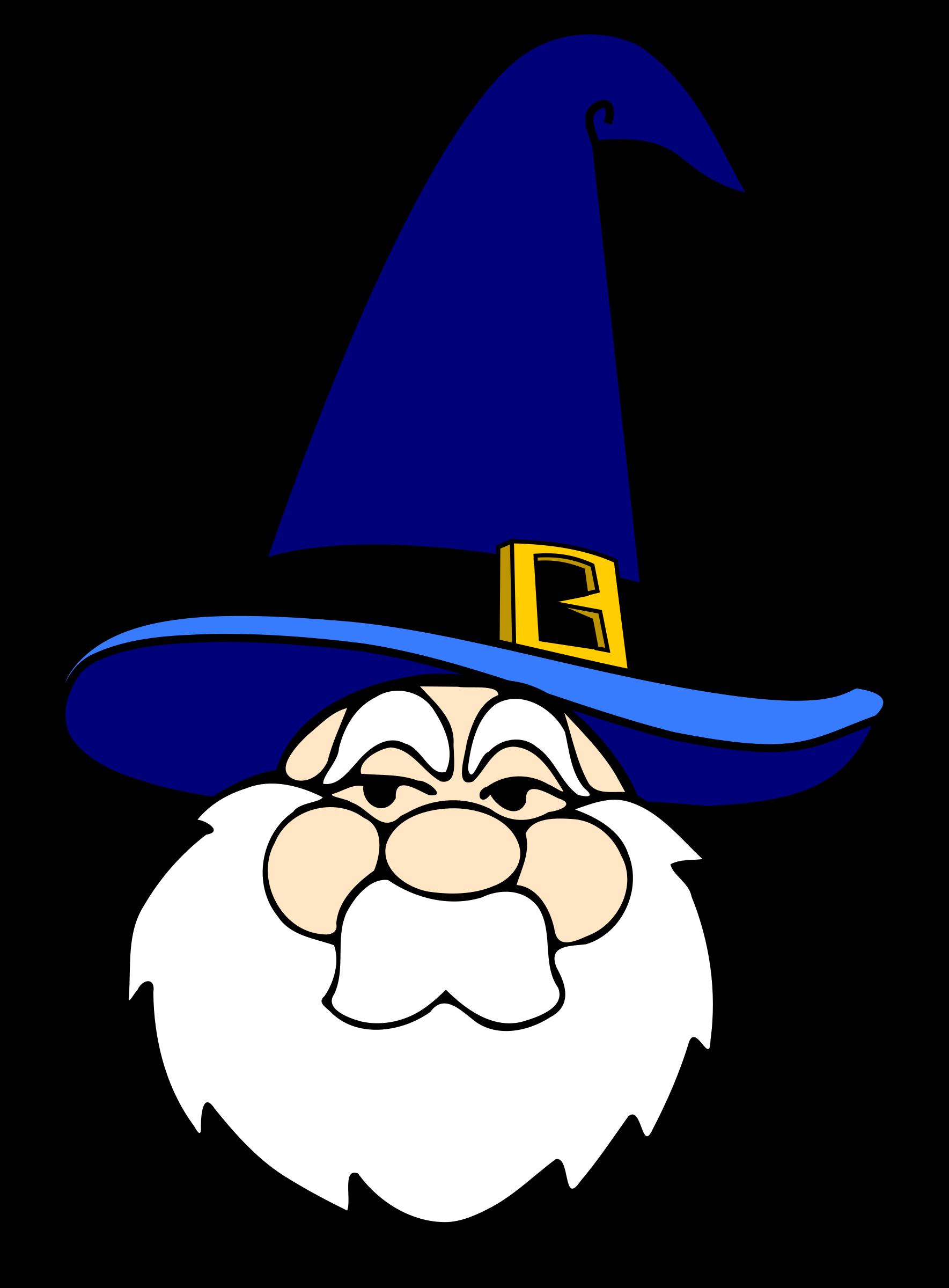 Fairies clipart hat. Wizard in blue big