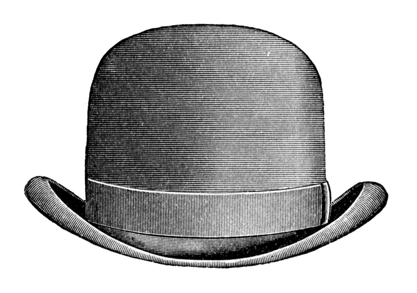 Steampunk clipart hat. Bowler image grafxquest free