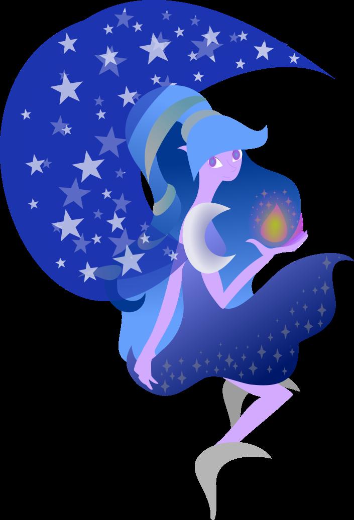 Fairy clipart moon. By laurka on deviantart