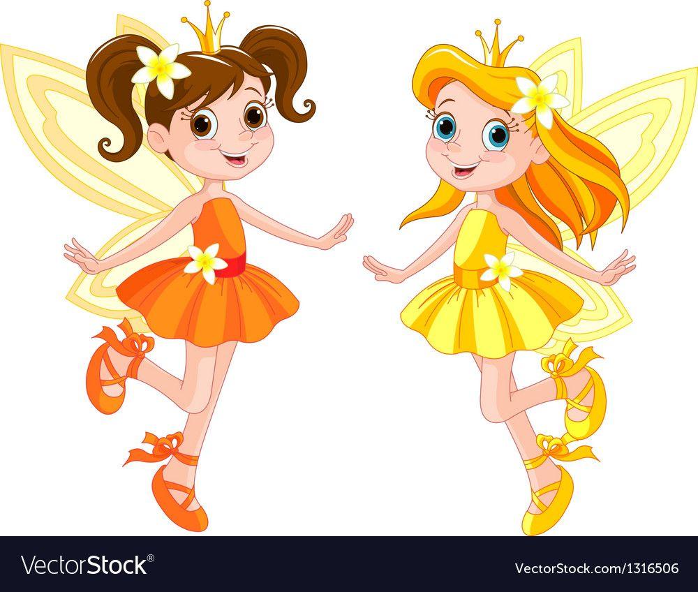 Two cute royalty free. Fairies clipart pdf