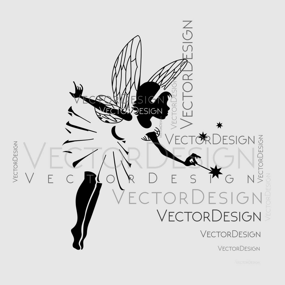 Fairy magic star svg. Fairies clipart pdf