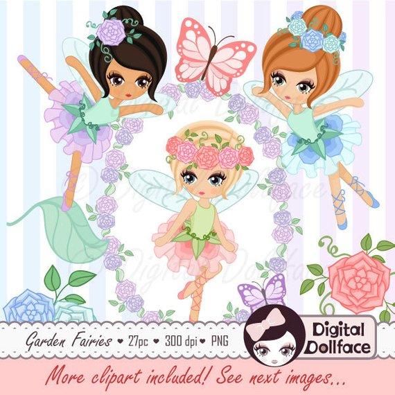 Garden fairies clip art. Fairy clipart printable