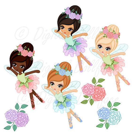 Fairy clipart printable. Garden fairies clip art