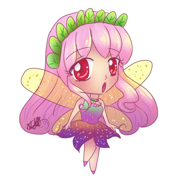 Fairies clipart purple. Chibi pink hair fairy