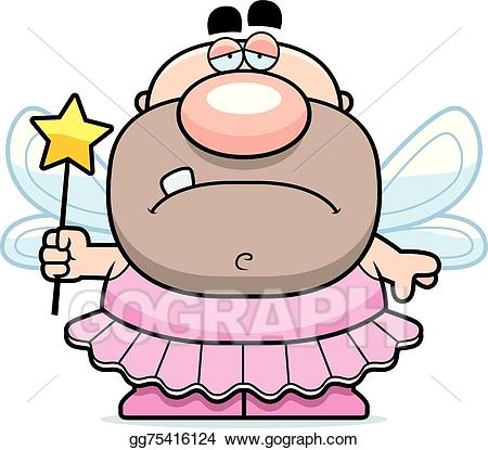 Vector illustration cartoon tooth. Fairies clipart sad