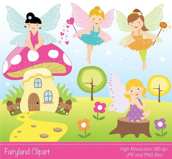 Fairy clipart scrapbook. Digital fairyland for scrapbooking