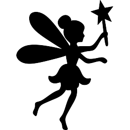 Fairy clipart simple. Silhouette free svg