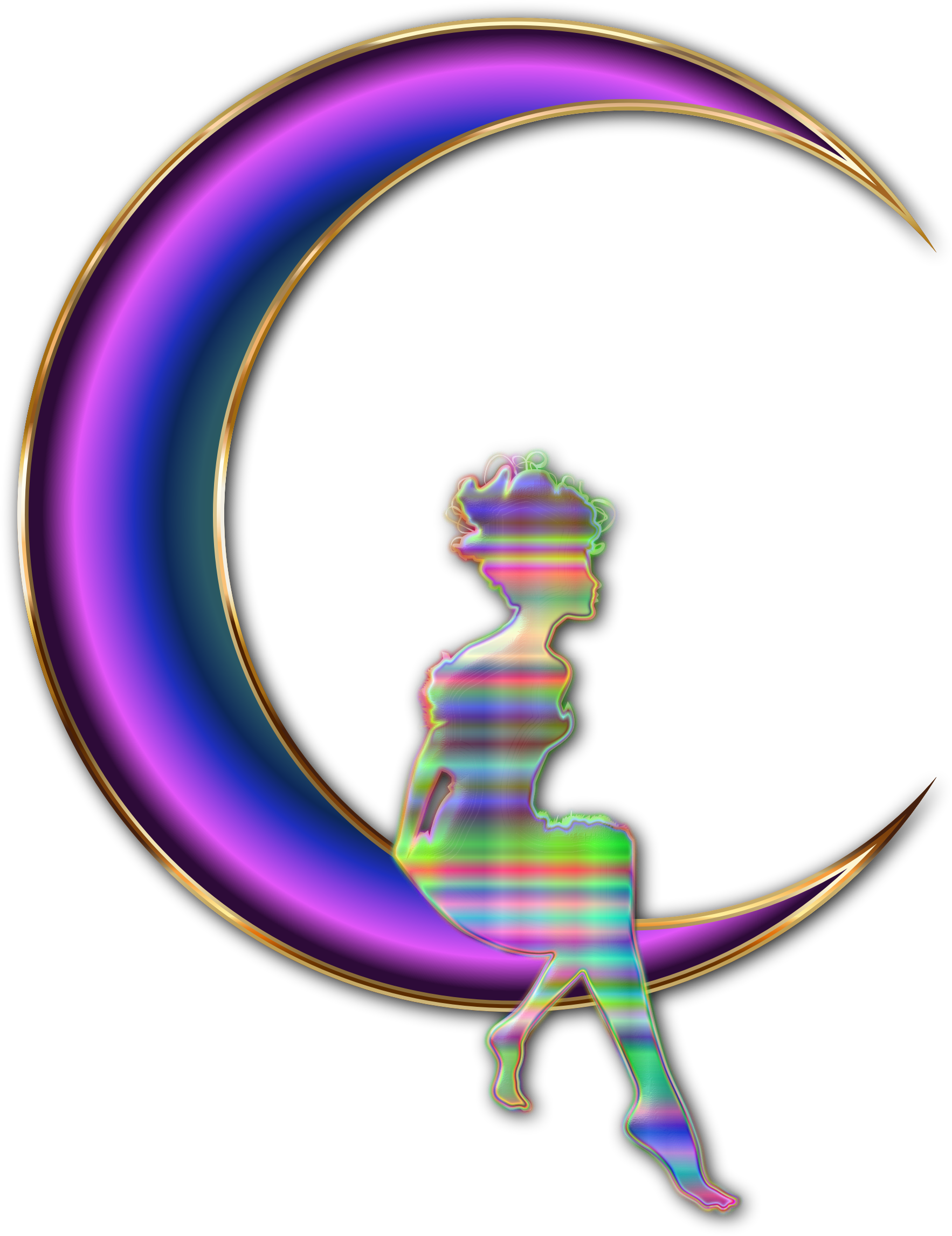 Fairies clipart shadow. Chromatic fairy sitting on