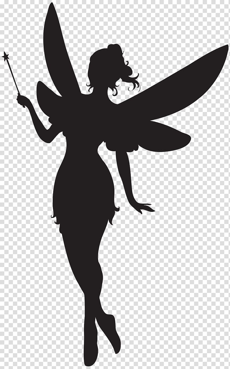 Illustration silhouette with magic. Tinkerbell clipart magical fairy