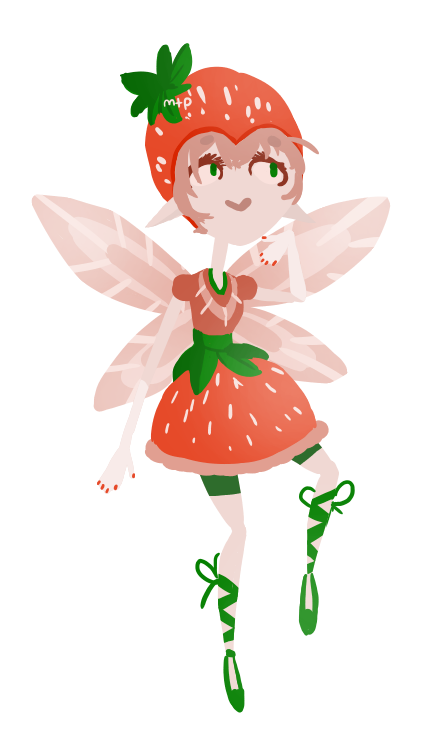 Strawberries clipart fairy. Strawberry by meowtownpolice on