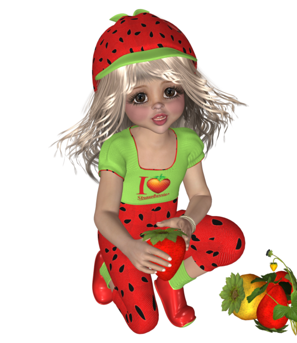 Strawberries clipart fairy. Pin by drienie swanepoel