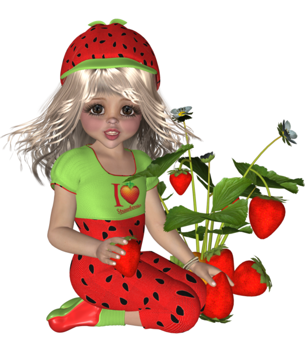 Pin by drienie swanepoel. Strawberries clipart fairy