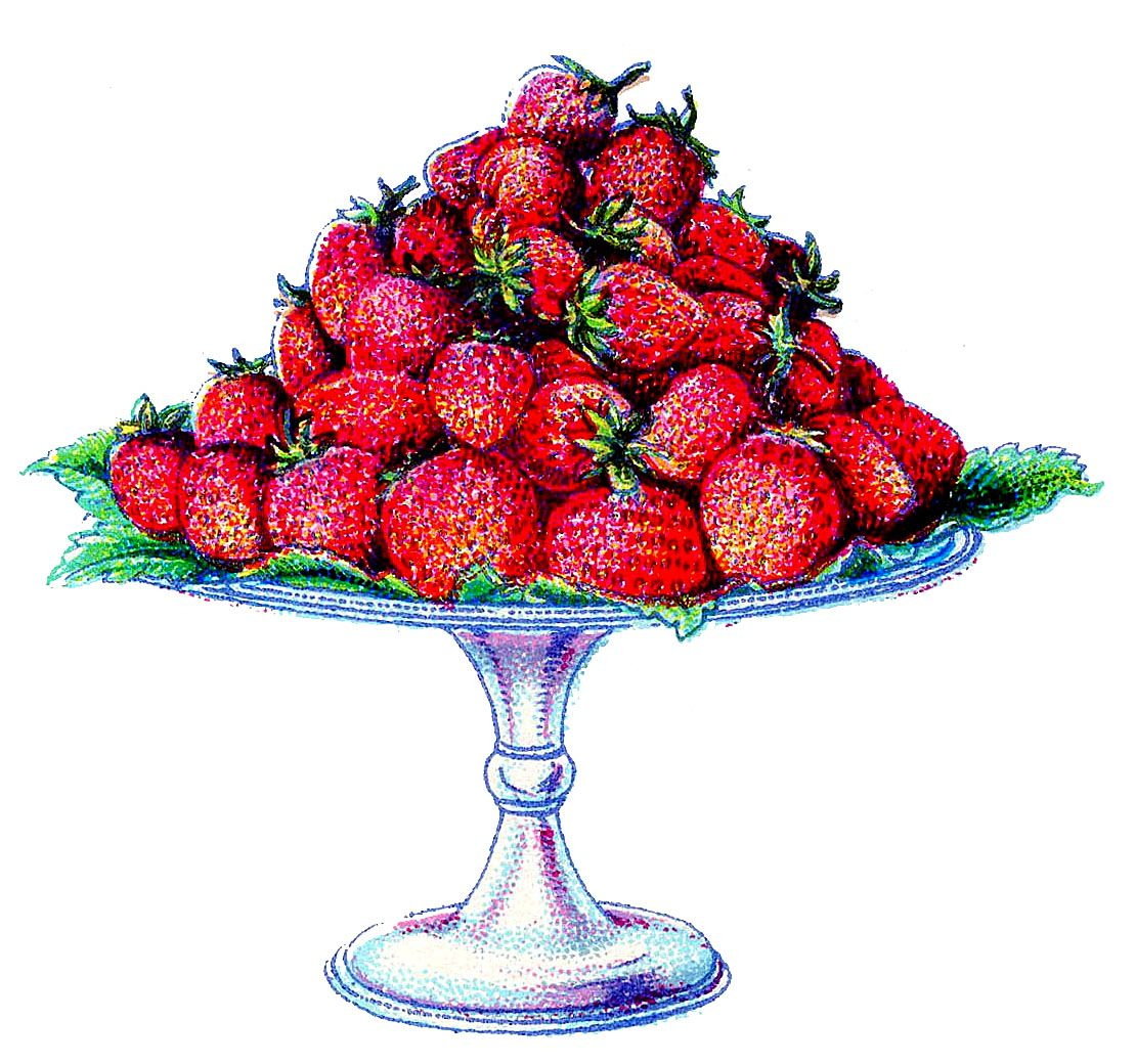 strawberry printables cake. Strawberries clipart fairy