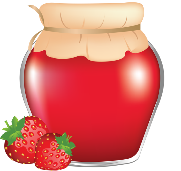 Forgetmenot in jars bottles. Strawberries clipart soda