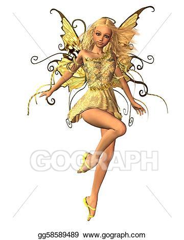 Fairy stock illustration gg. Fairies clipart summer