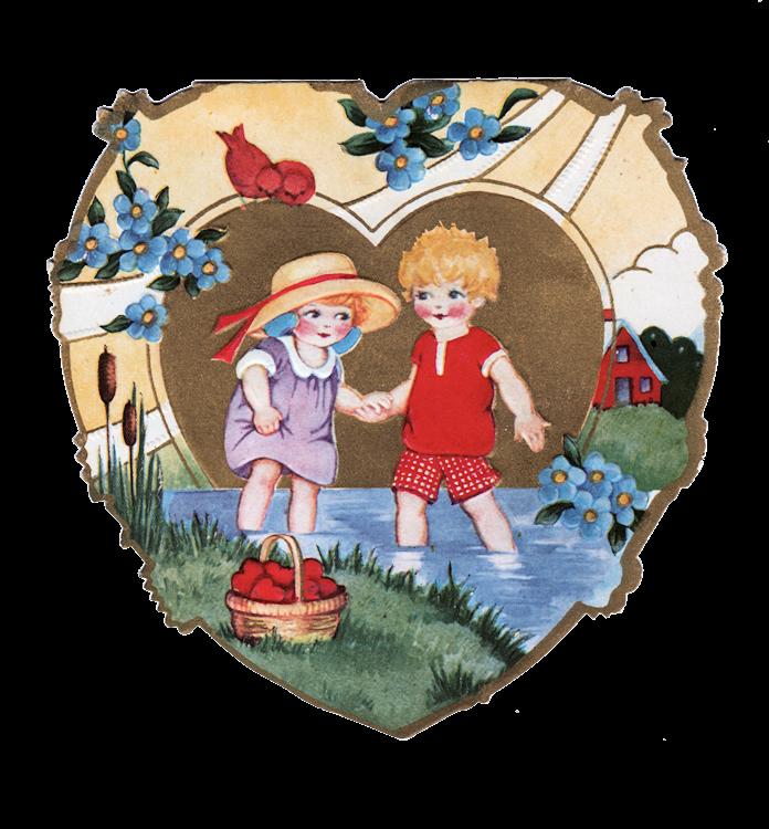 Fairies clipart valentine. Vintage cute kids the