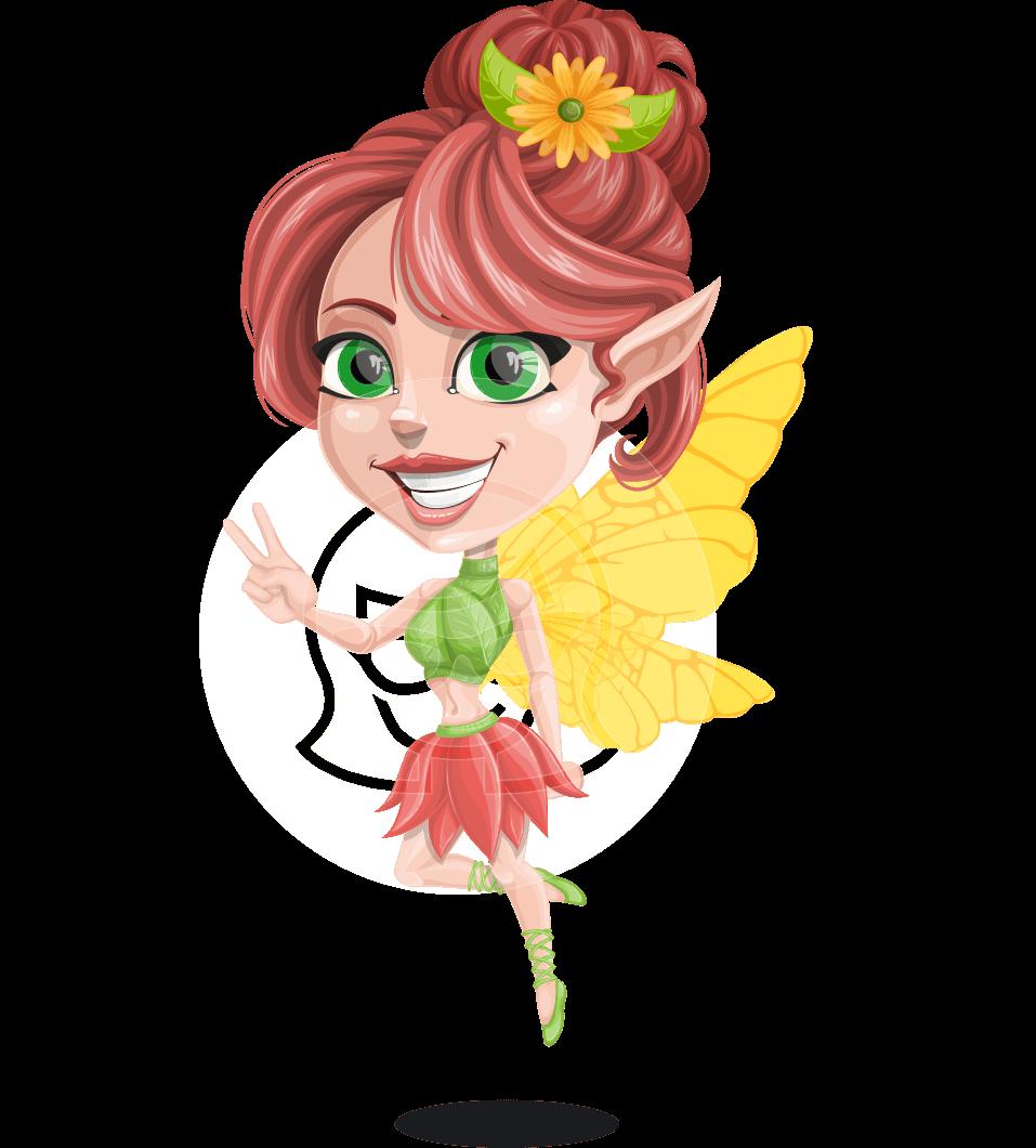 Fairy clipart flower fairy. Vector female cartoon character