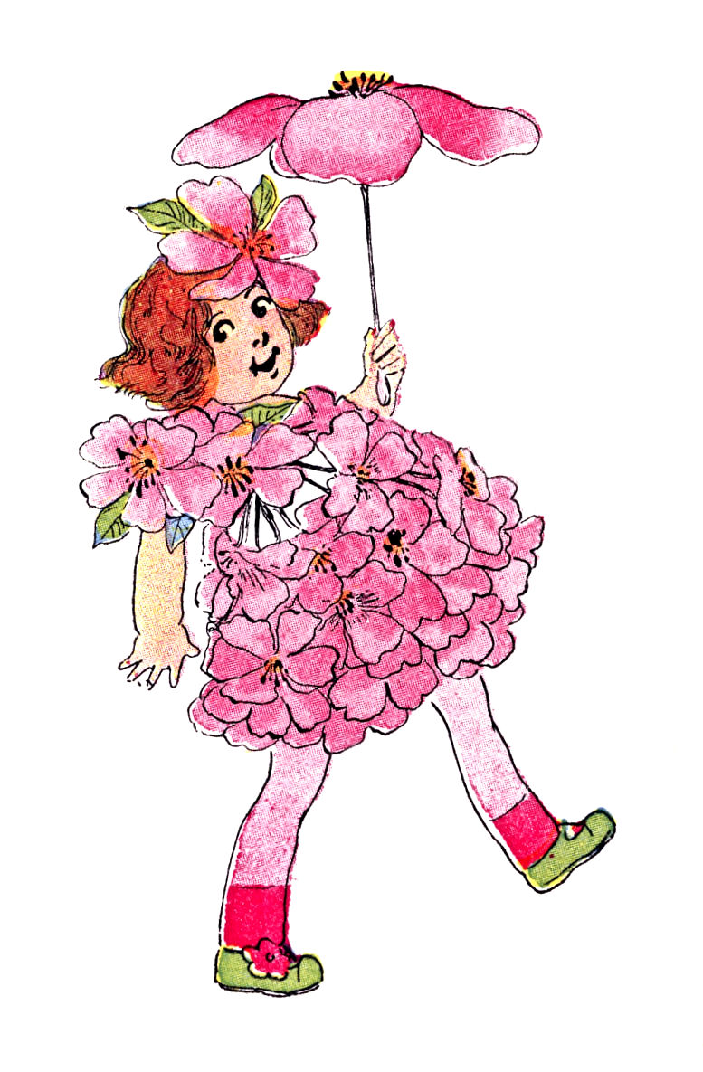 Fairy clipart flower fairy. Free vintage clip art