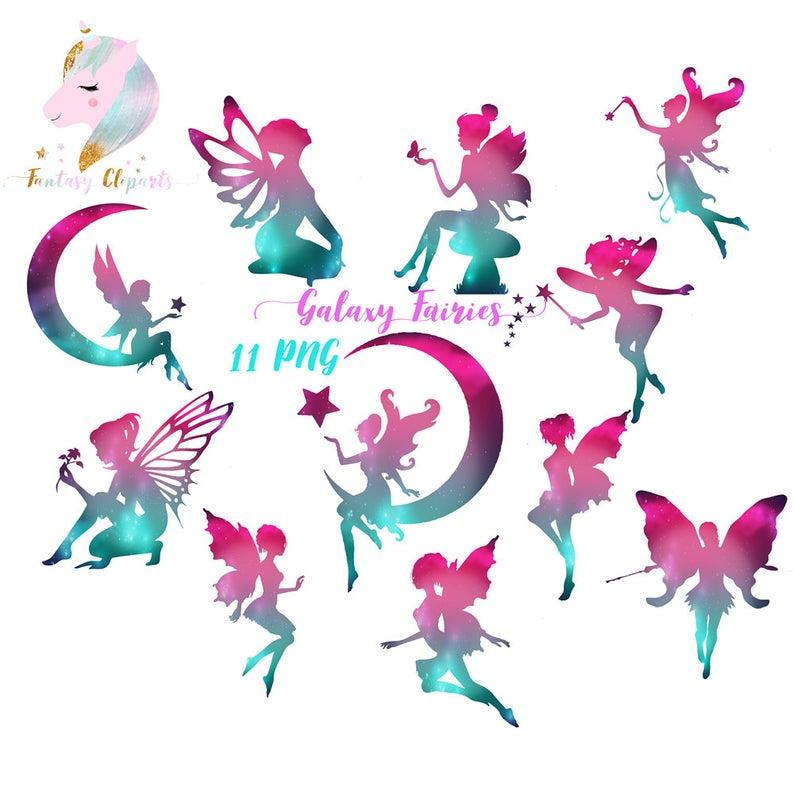 Galaxy fairy cosmic clip. Fairies clipart window