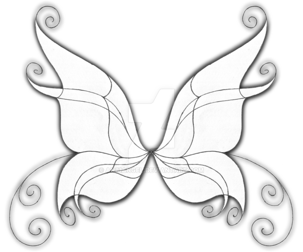 Wings drawing at getdrawings. Fairy clipart wing
