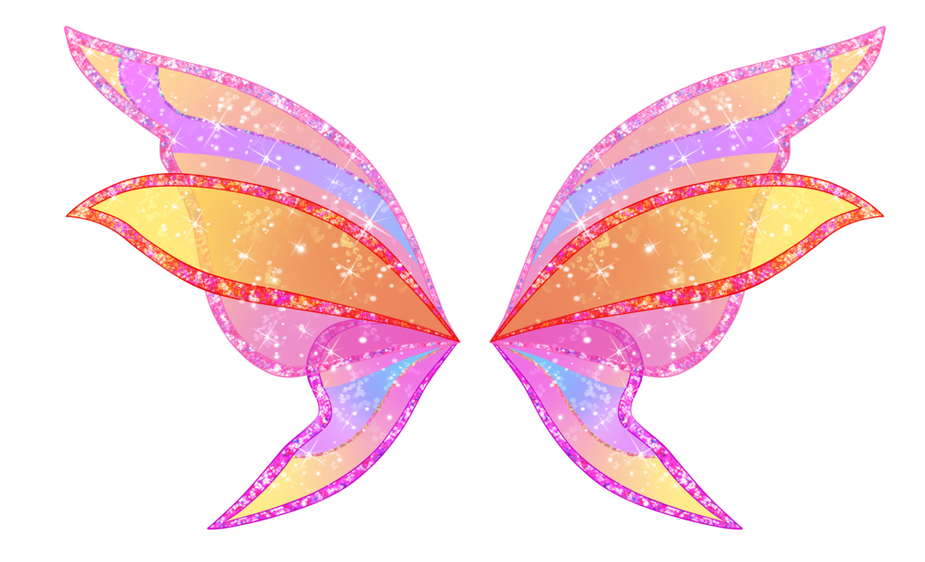 Wing clipart pink. Stella harmonix wings by