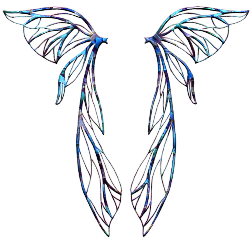 Fairy wings panda free. Wing clipart template