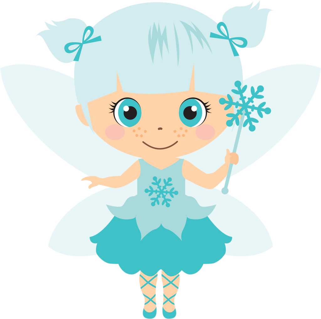 Fairy blue. Clipart transparent free for