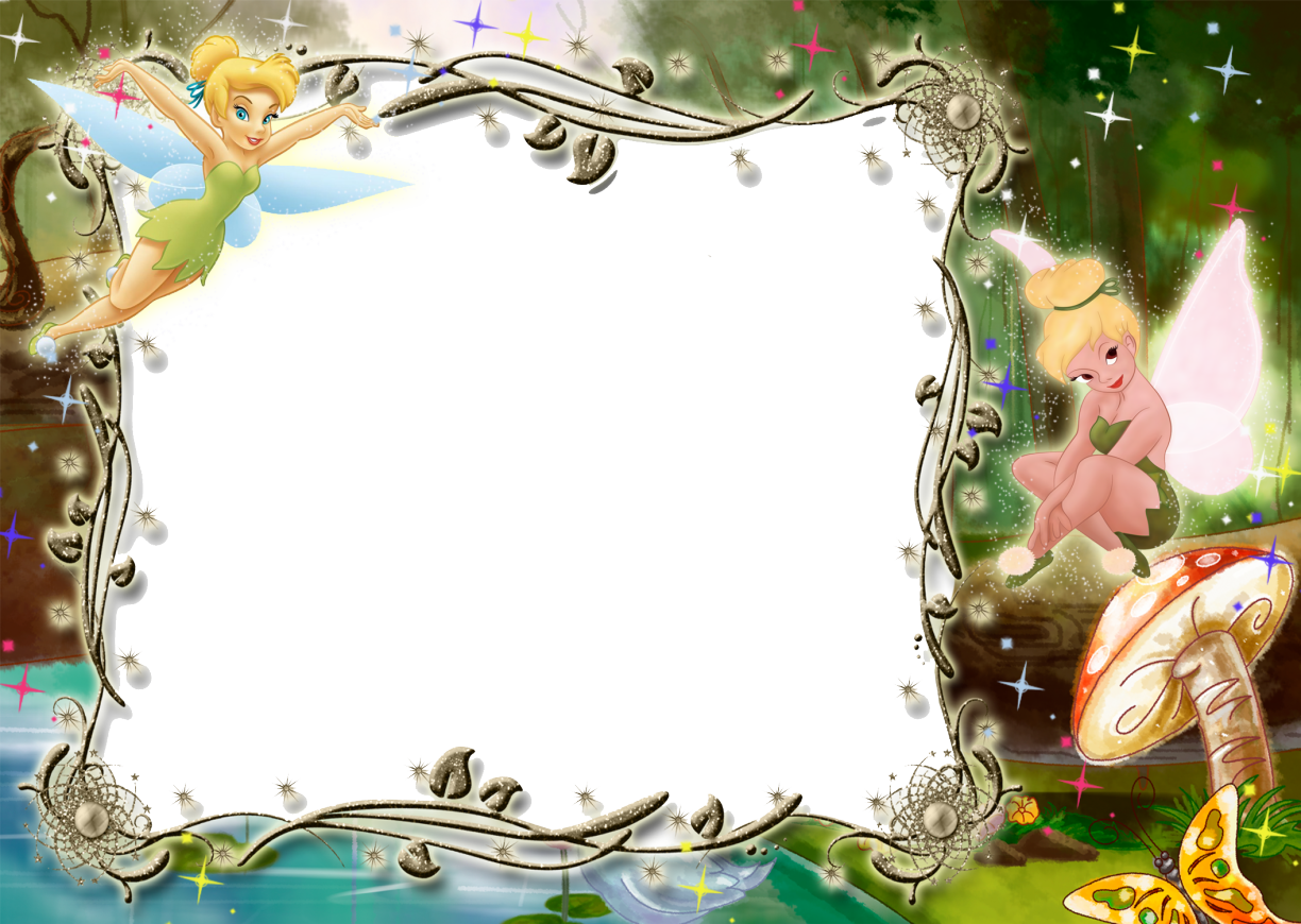 Kids transparent photo with. Fairy clipart frame