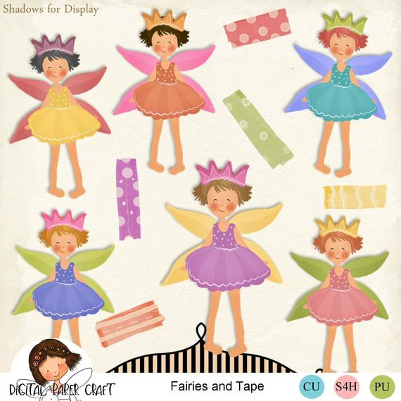 Sticky tape instant . Fairy clipart scrapbook
