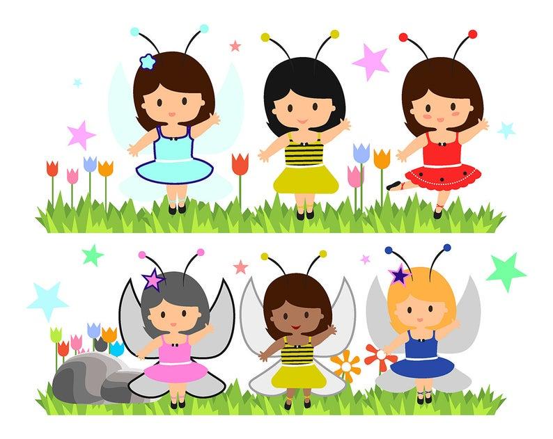 Fairy clipart scrapbook. Sale garden fairies cliparts