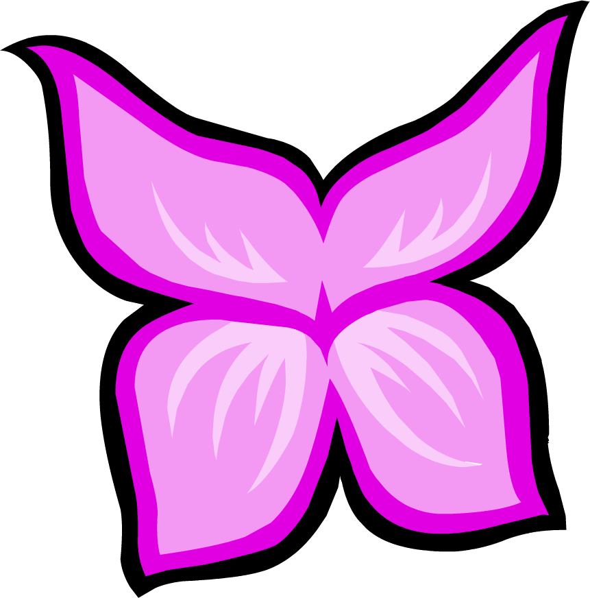 Fairy wings club penguin. Wing clipart pink