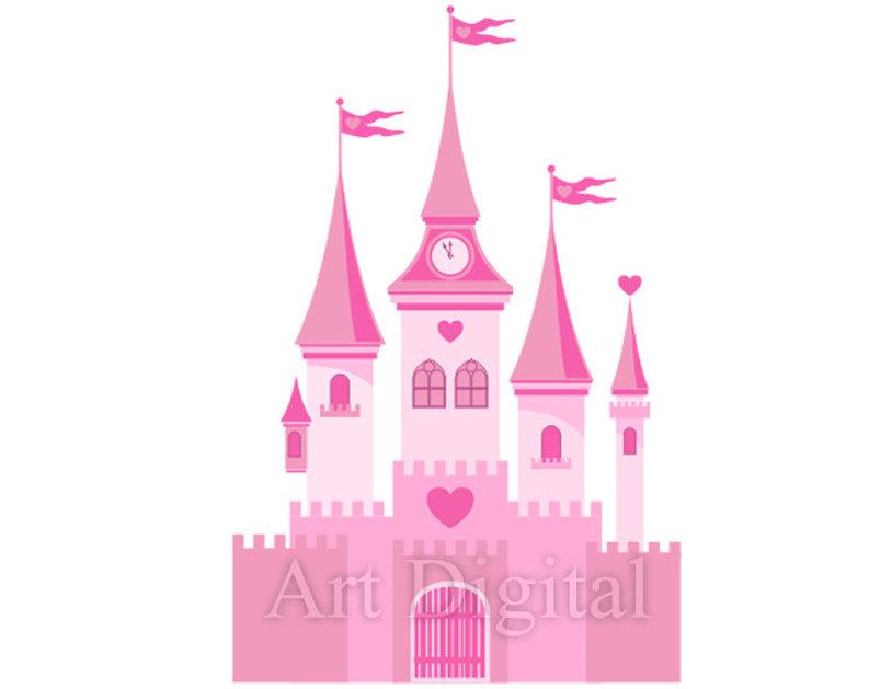 Download clip art princess. Fairytale clipart beautiful castle