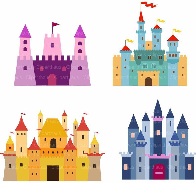 Fairytale clipart big castle. Clip art svg princess