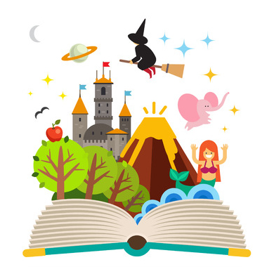 Fairytale clipart book genre. Literary categorizing texts ereading