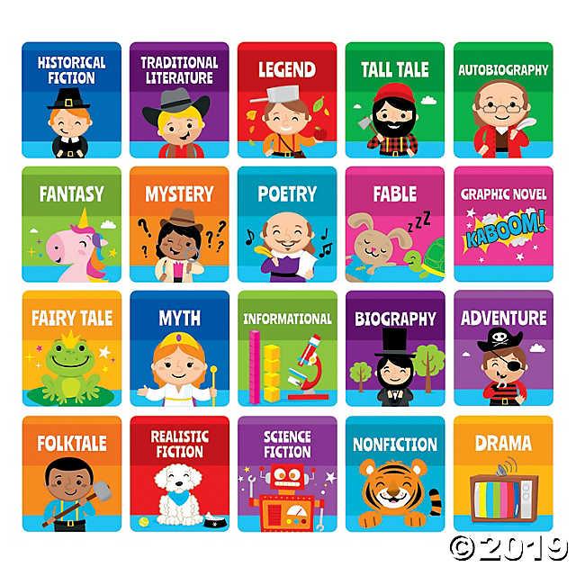 Bin stickers . Fairytale clipart book genre