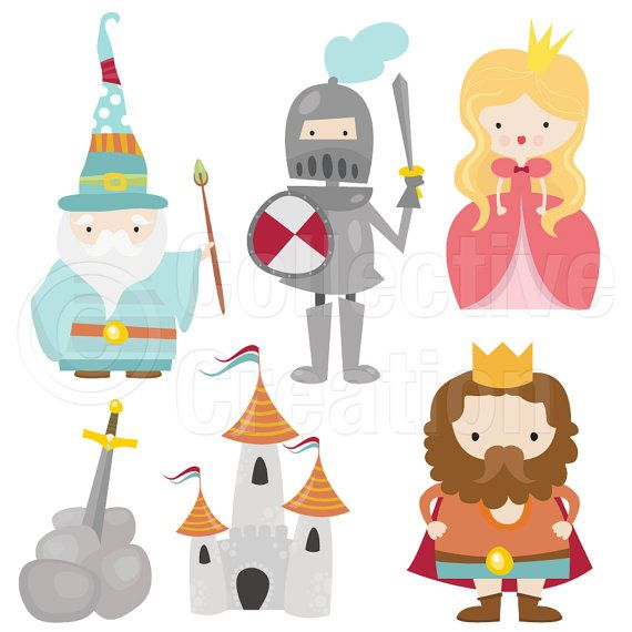 Little digital clip art. Fairytale clipart camelot