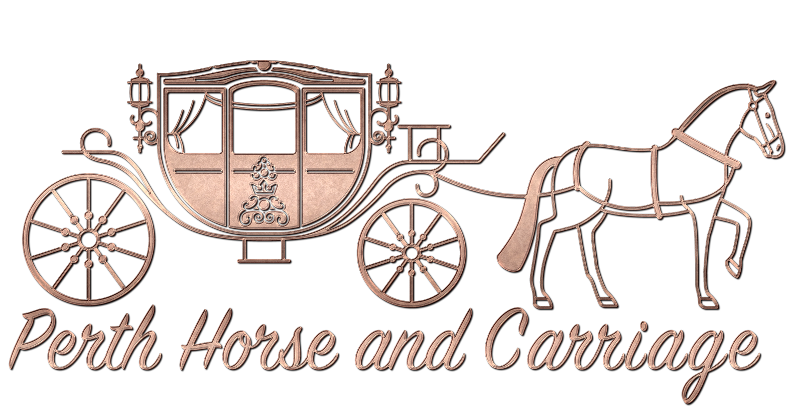 Perth horse and carriage. Wagon clipart coverd