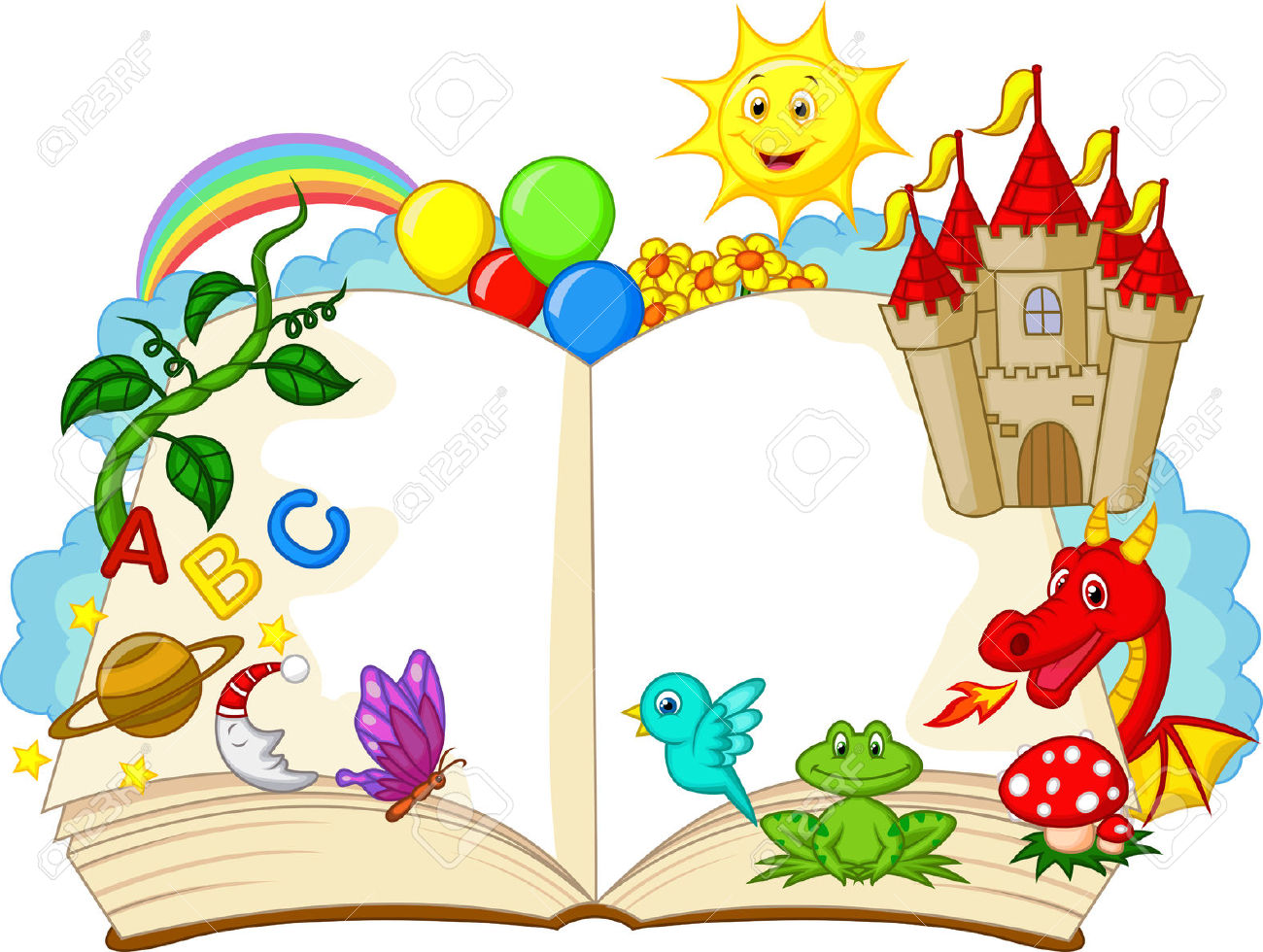 Fairy tale book free. Fairytale clipart cartoon