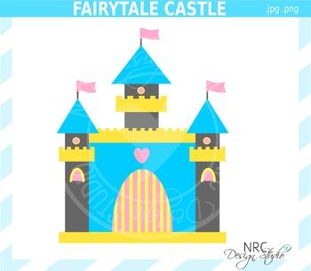 Commercial use . Fairytale clipart castle