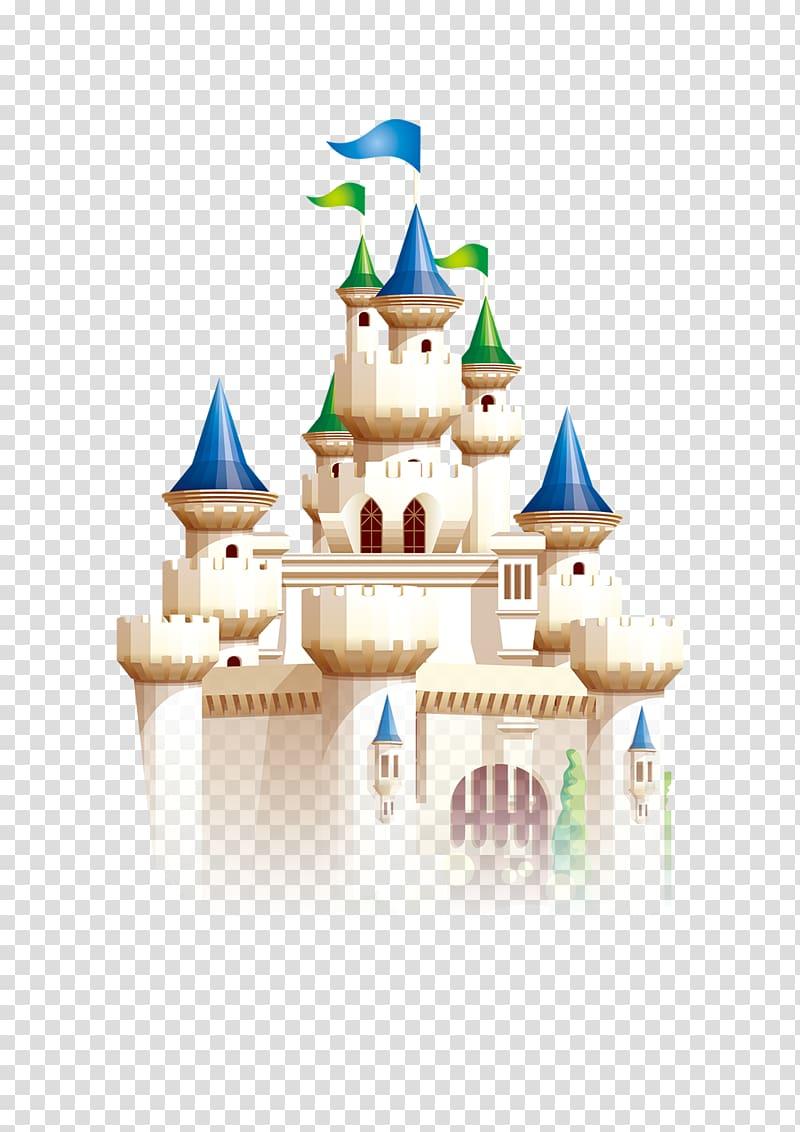 Fairytale clipart castle. White cartooned illustration cartoon