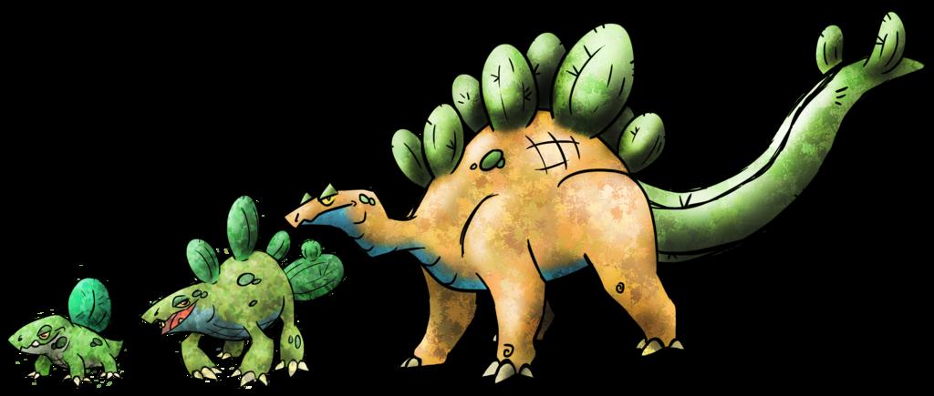 Cactus stegosaurus fakemon by. Fairytale clipart castle welsh