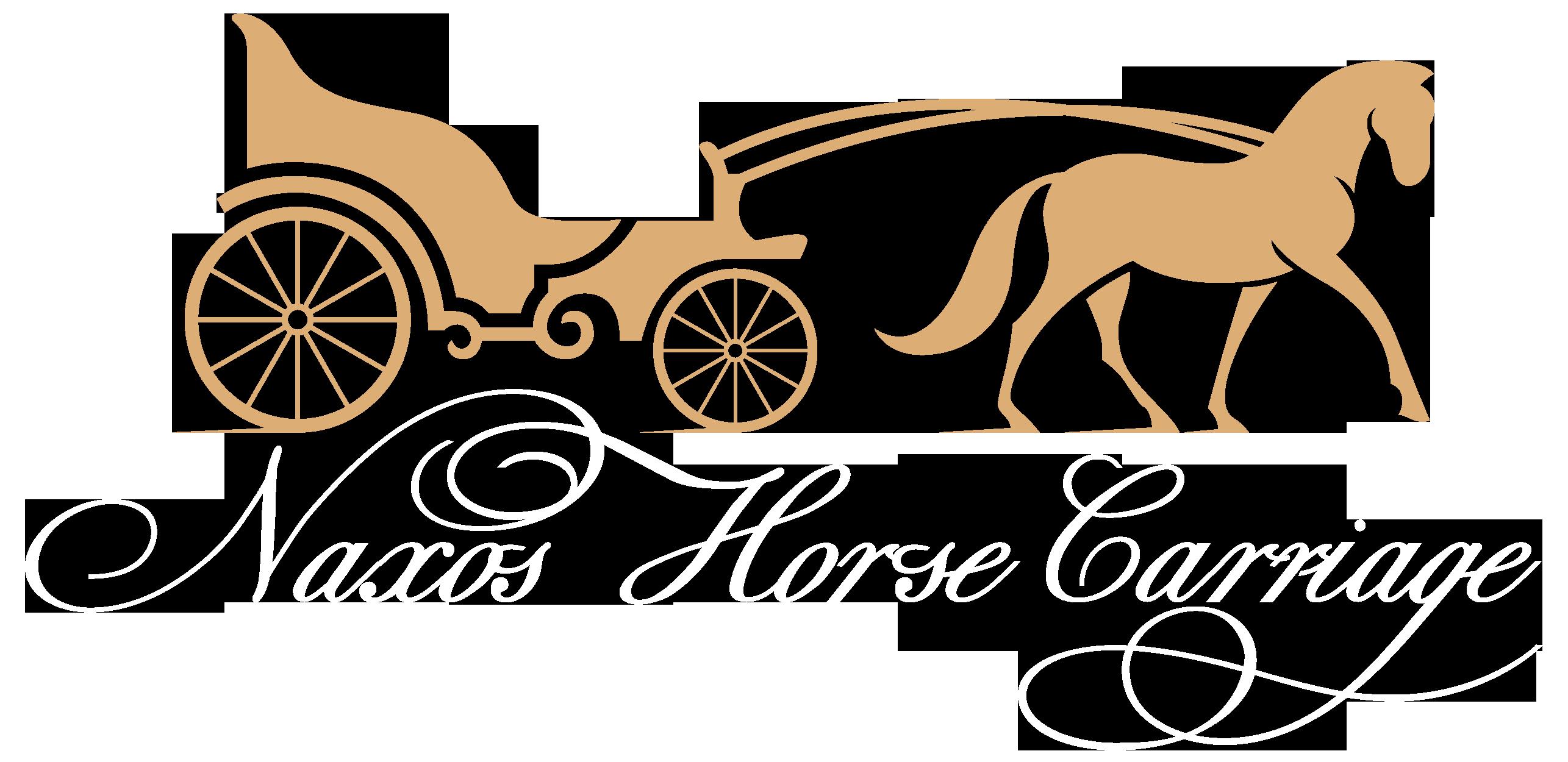 Naxos wedding logo. Fairytale clipart chariot