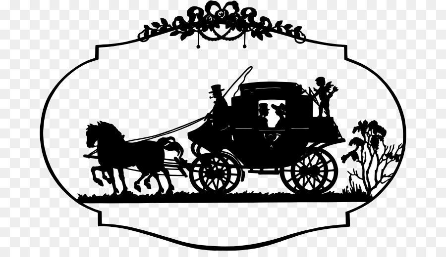 Black and white flower. Fairytale clipart chariot