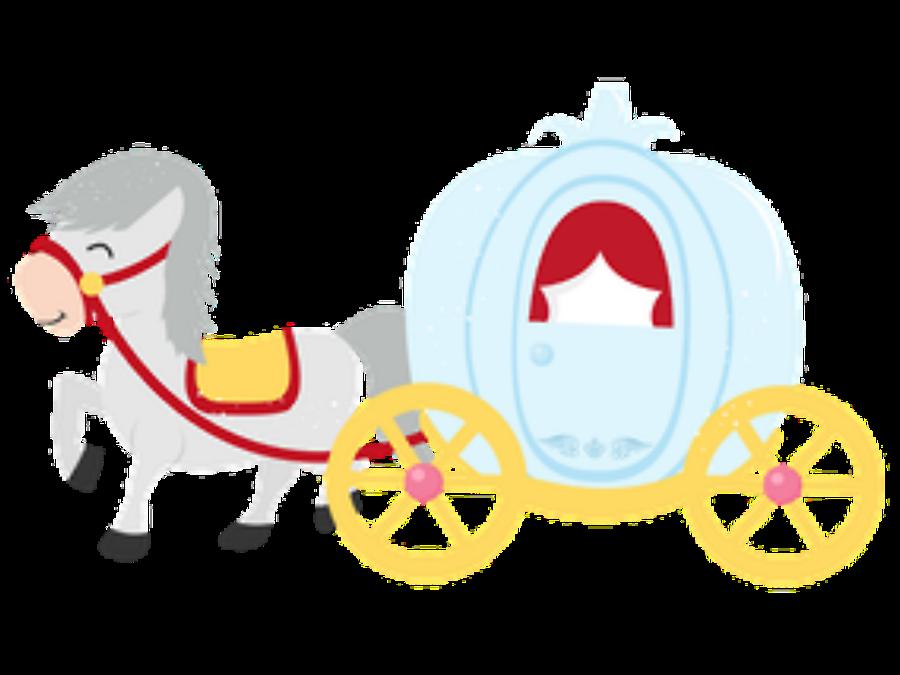 Minus say hello cinderella. Fairytale clipart chariot